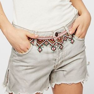 FREE PEOPLE  Borderline Denim Cutoffs
